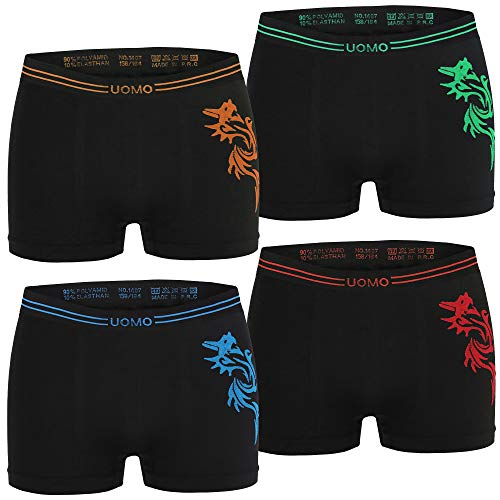 Kids Fashion Lounge Jungen Boxer Uomo 4er schw/134-140