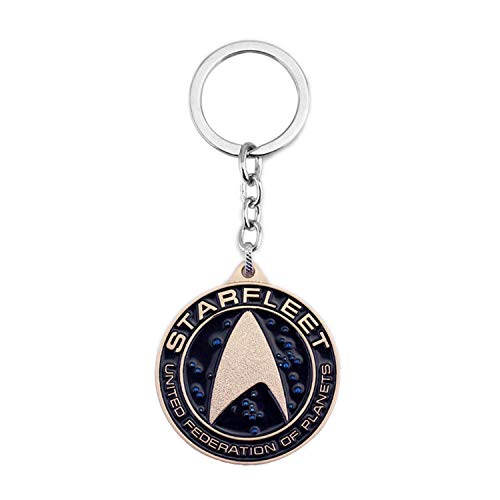 Star Fleet Sign Keychain Alloy Pendant Keyring for Couples Family Best Friends Anniversary Present