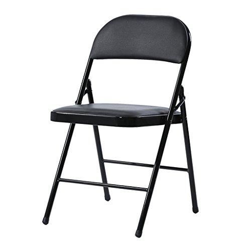 Chaises de bureau Chaises de réunion Accueil Chaises pliantes Chaises de retour Chaises de dortoir Chaises de loisirs 44 * 46 * 76cm ( Couleur : Noir )