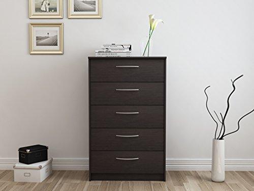 espresso 5 drawer dresser - 4