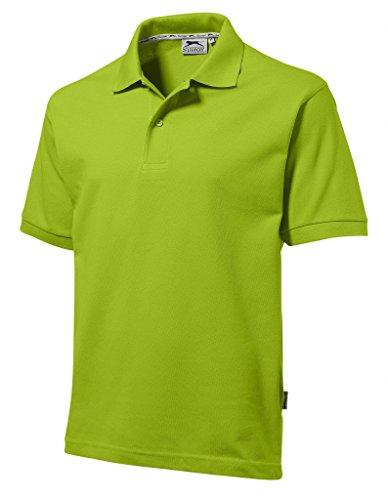Slazenger Polo Hemd Poloshirt aus 100 % Baumwolle für Freizeit, Tennis oder Golf in 23 Farben und den Grössen S, M, L, XL und XXL Apfelgrün,XL Apfelgr?n,XL