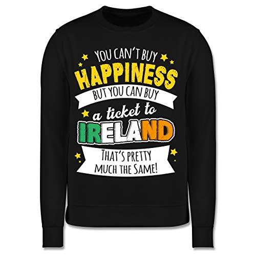 Anlässe Kinder - A Ticket to Ireland - weiß - 140 (9/11 Jahre) - Schwarz - Pullover - JH030K - Kinder Pullover