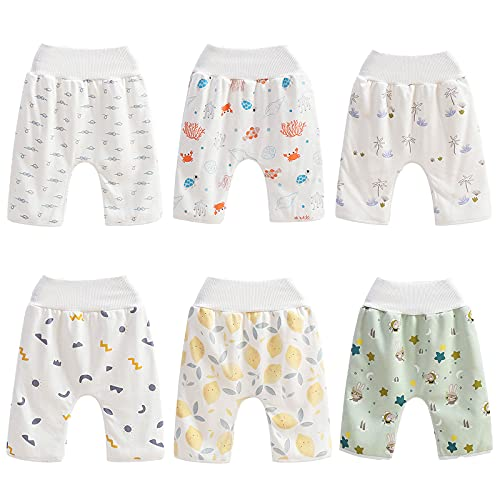 Unisex Baby Potty Training Cloth Diaper Pants Reusable Cloth Diaper Guards Soft Diaper Skirt/Short for Night Time Washable Mattress Cover Bedwetting Cover Pad for Babies & Toddler