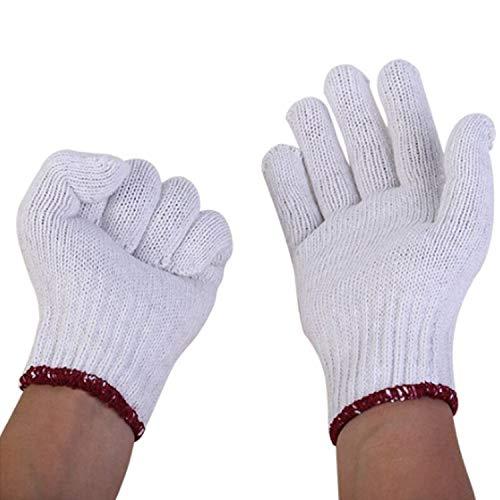 安全な 手袋 コットン糸手袋 労働 保護手袋 溶接手袋 ノンスキッド 保護 (Size : M(9in), UnitCount : Four dozen)