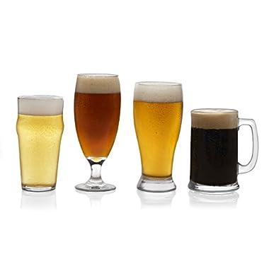 Libbey Craft Brews 4-piece Assorted Beer Drinkware Glass Set