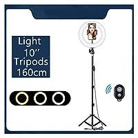 三脚のスタンドの電話ホルダーの調光対応LEDの美容カメラの着信ライトのメイクアップ写真のためのselfie呼び出しライト (Color : RL1 10R 160)