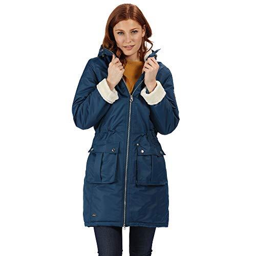 Regatta Romina Damen Jacke mit Kapuze, wasserdicht und atmungsaktiv 44 Blue Opal