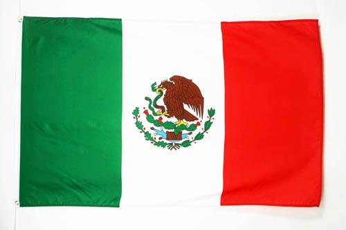 AZ FLAG Bandera de MÉXICO 150x90cm - Bandera Mexicana 90 x 150 cm
