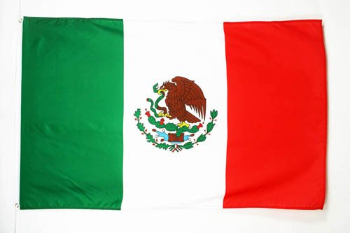 AZ FLAG Mexico Flag 3' x 5' - Mexican Flags 90 x 150 cm - Banner 3x5 ft