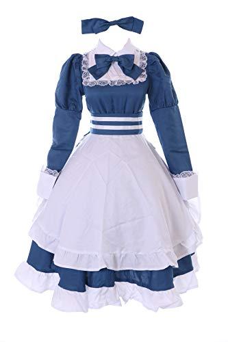 Kawaii-Story MN-185 Hetalia húngara gótica Lolita Maid vestido zofe azul 6 piezas disfraz para mujer Cosplay (XL)