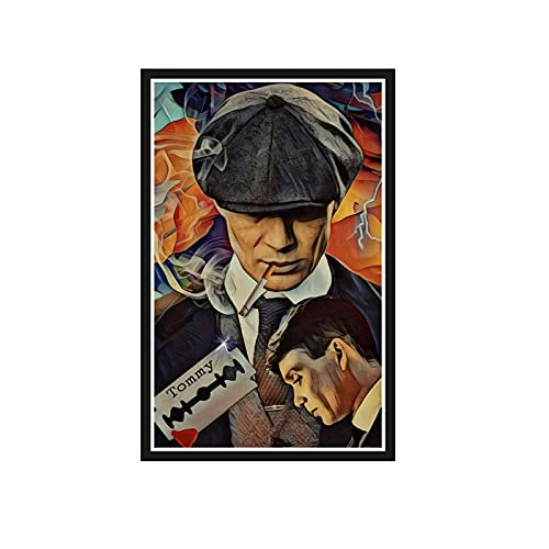 ZGHDHR Huilin Movie Portraits British High Score Crime Drama Peaky Blinders Poster Hight Quality Canvas Painting Home Decor Wall Art-20X28InchNoFrame1Pcs