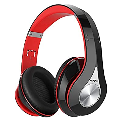 Bluetooth Headphones Over Ear, Mpow 059 Hi-Fi Deep Bass Wireless?Wired Headsets, Soft Memory Protein Earmuffs, Foldable Headphones with CVC6.0 Mic for Home Office Online Class Travel Cellphone PC TV