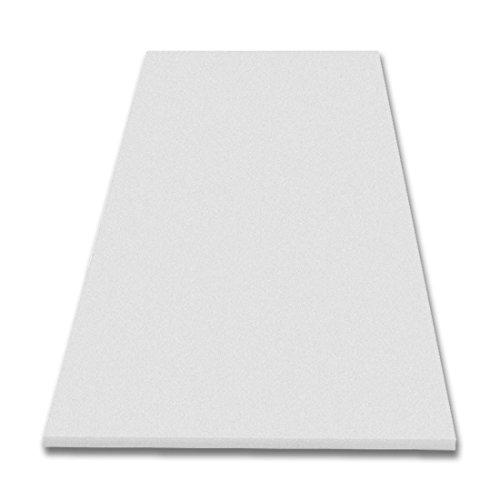 Akustikschaumstoff Glatt, 200x100x7cm, Weiss