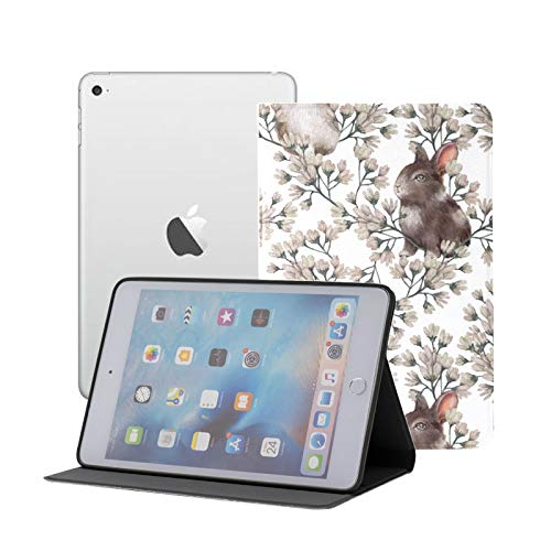 Case For Ipad Pro 11' 2020/2018 With Pencil Holder,smart Lightweight Soft Tpu Back Premium Protective Case Cover With Auto Sleep/wake Feature, Floral Pattern Rabbits Perfect