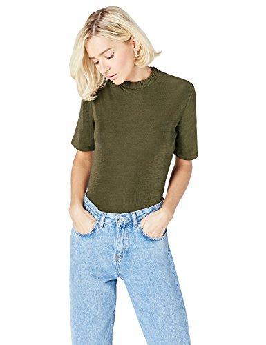 Amazon-Marke: find. T-Shirt Damen mit lockerer Passform, Grün (Green), 44, Label: XXL
