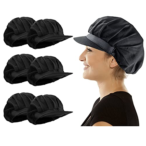 6 or 10pcs Chef Hat Hair Nets Food Service Kitchen Net Chef Cap for Cooking Chef Work Hats Unisex Adjustable Mesh Cap