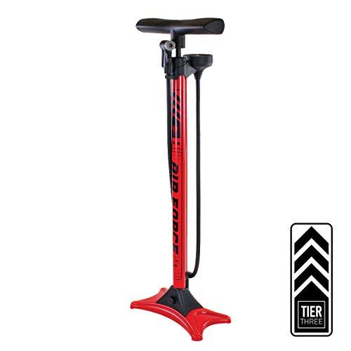 Serfas FP-T3 Air Force Tier Three Bicycle Floor Pump Red
