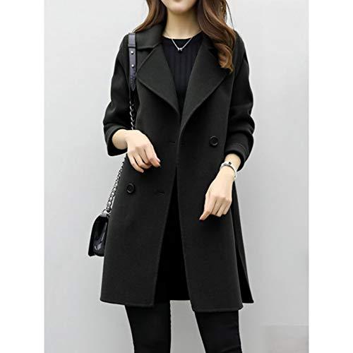 SHANGYI dames dames windjas zwart lange mantel herfst en winter dames overhemd mantel