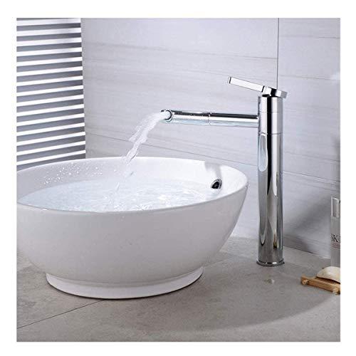 Grifo de agua 360 grados otación cuenca sobre encimera gabinete baño grifo lavabo latón sólido cocina mezclador tire redondo cobre grifo zhuang94