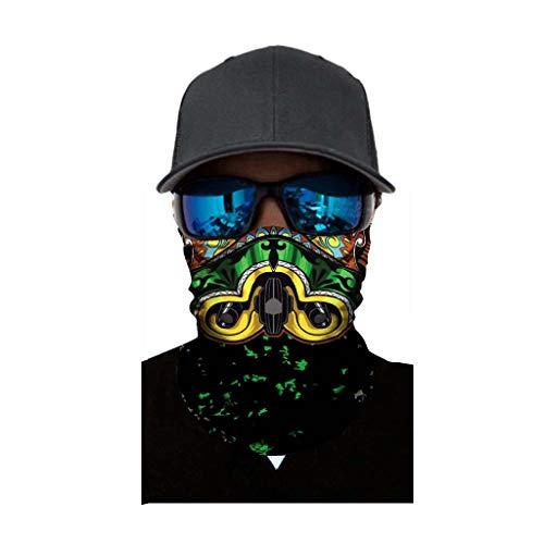 Pitashe Multifunktionstuch Cool Comic Muster Damen Herren Schnelltrocknend Atmungsaktiv OutdoortuchSonnenschutz Verschleißfest Staubdicht SchalSchlauchschal Halstuch für Motorrad Laufen Wandern