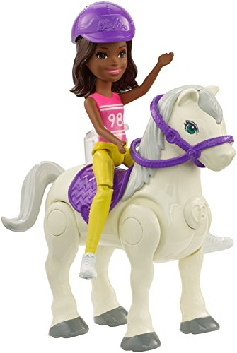 Barbie On The Go White Pony and Pink Fashion Doll - Muñecas (Multicolor, Femenino, Chica, 4 año(s),, Ampolla)