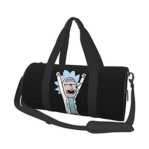 Rick Morty - Bolsa de viaje unisex para ir al gimnasio, deportes, entrenamiento, compras, hombro