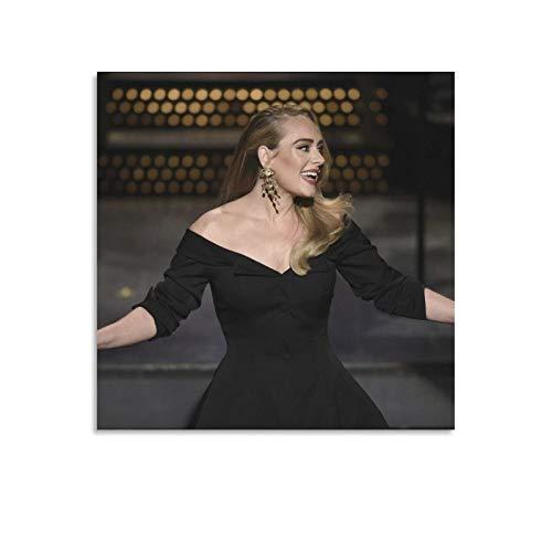 Adele Wandbild, Bild auf Leinwand, modernes dekoratives Kunstwerk, Bilder für Zuhause, Dekoration, Wanddekoration, dekorative Gemälde, 30 x 30 cm, ohne Rahmen