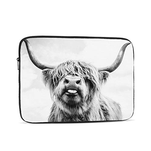 KXT A Highland Cow Laptop Sleeve,Carrying Bag Chromebook Case Notebook Bag Tablet Cover