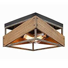 ✔️【Retro Industrial Design】:Inspired with the modern minimalist design concept and vintage farmhouse style, this industrial ceiling lighting not only retains the retro charm but also adds a modern industrial minimalist style, which compatible with a ...