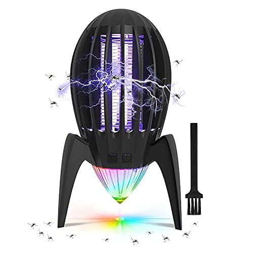 scosao Lámpara Antimosquito, Lampara Mosquito Electrico, 360° UV-con Cepillo de Limpieza, Matar Mosquitos, Moscas, Trampa con Potente Insectos Adecuado para el...
