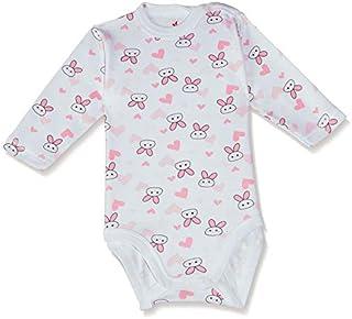 Papillon Printed Round Neck Long Sleeves Bodysuit for Kids
