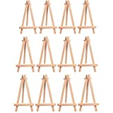 12 x Artiste Bois Mini Chevalet Triangle Mariage porte Carte 9 x 15.5 cm - MUXItrade