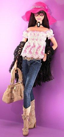 Barbie Designer Collecton Gold Label - Anna Sui Boho Barbie Doll (japan import)