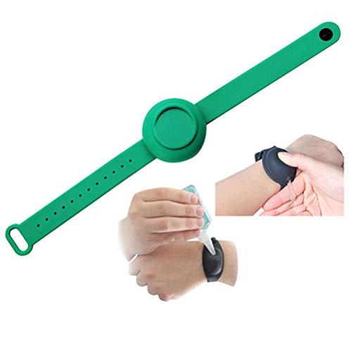 WyTosa Pulsera de Gel de Mano, pulsera de silicona portátil de 15 ml, pulsera desinfectante de Manos, dispensador de Mano de pulsera líquida portátil, pulsera líquida portátil para adultos y Niños