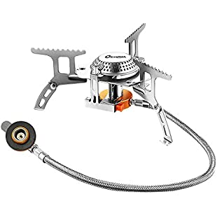 Exqline Camping Gas Stove Portable Camping Stove 3500W with Convenient Piezo Ignition and Carrying Case Foldable Camping Stove for Outdoor Backpacking Hiking:Enlaweb