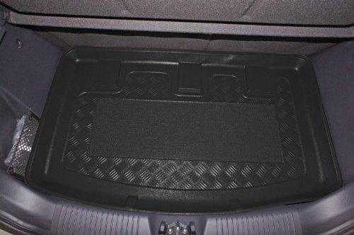 Kofferraumwanne mit Anti-Rutsch passend für Kia Rio III UB HB/5 08/2011- erhöhte Ladefläche mit Staufach unter Kofferraumboden, Modelle XL