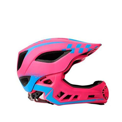 Motorrad-Helm, ausgewogener Auto- und Roller-Helm, DOTECE-Zertifiziert – Integralhelm mit Sonnenschutz, für Erwachsene und Damen – M/L/XL S rosa 1