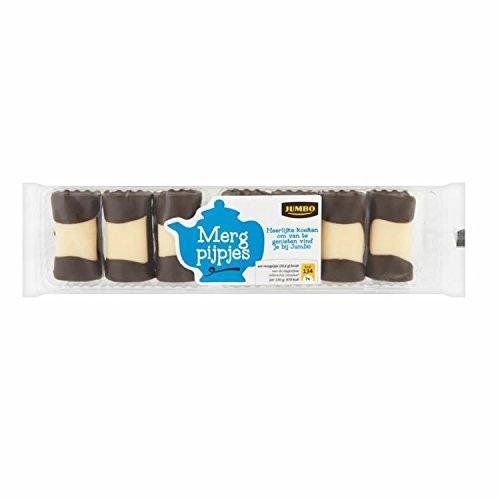 Mergpijpjes 200 g holländischer Kuchen Gebäck mit Marzipan und Schokolade