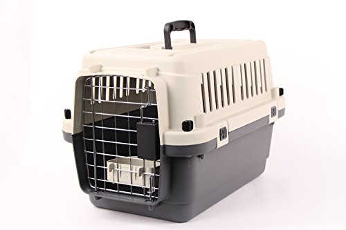 """Pet Kennel Direct 22"""" Airline Approved Plastic Dog / Cat Pet Kennel Carrier or Air Travel"""
