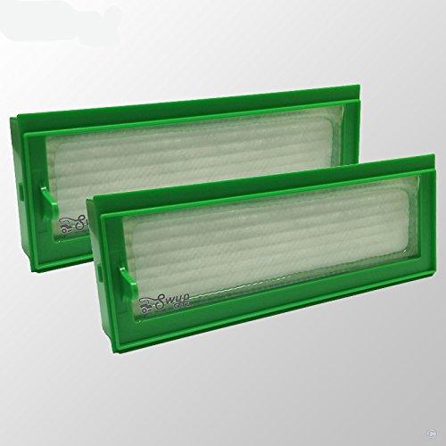 Lot de 2 filtres HEPA Allergie Filtre de rechange pour aspirateur Vorwerk Kobold VR200 VR 200 Aspirateur Robot