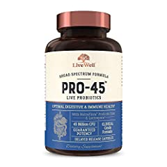 45 Billion CFU Strength: We believe it is the best probiotics for women and men featuring 45-billion guaranteed live cultures and 11 powerful probiotic strains, per capsule! Includes NutraFlora Prebiotic Fiber to boost the growth of good gut flora an...
