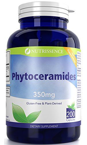 Phytoceramides 350mg 200 Capsules - Sweet Potatoes and Rice Based - Nutrissence