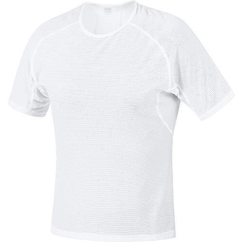 GORE WEAR M Herren Kurzarm Unterhemd, XL, Weiß