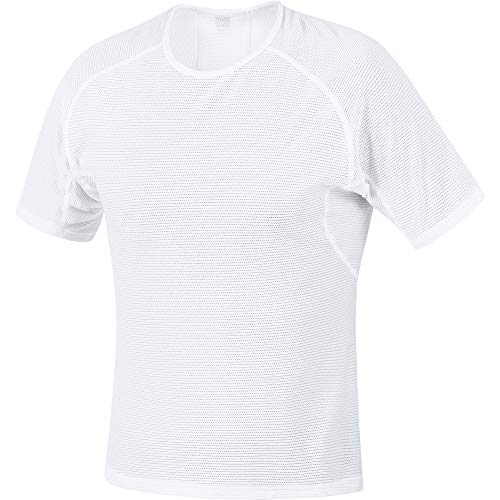 GORE WEAR M Herren Kurzarm Unterhemd, L, Weiß