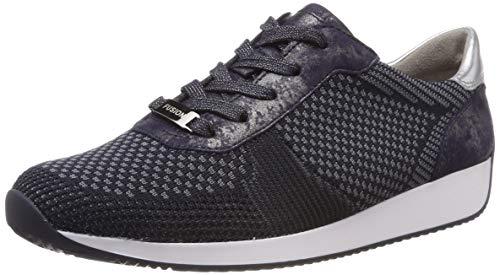 ara LISSABON Sneaker Damen, Blau (Blau-Grau, Blau/Silber 08), 40 EU