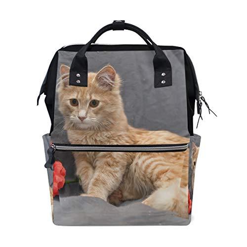 Lazy Fun Baby Cat Comfort Animal Borse per pannolini a grande capacità Zaino per mamme Funzioni multiple Borsa per infermieri Tote Borsa per bambini Cura del bambino Viaggi Donne al giorno