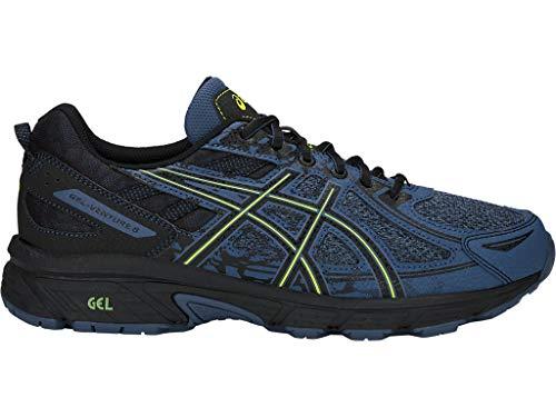 ASICS Men's Gel-Venture 6 MX Running Shoes, 12M, Grand Shark/NEON Lime