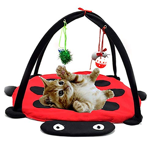 Herewegoo Katten Bedden Opvouwbare Huisdier Katten Hangmat Zacht Katoen Ademende Tent Kitten Speelgoed
