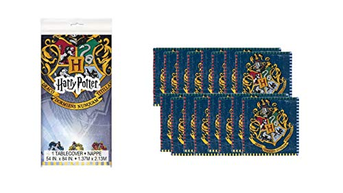 2705; Harry Potter-pakket; ideaal voor feesten en verjaardagen; samengesteld uit 16 papieren servetten en plastic tafelkleed afmetingen 137x213cm