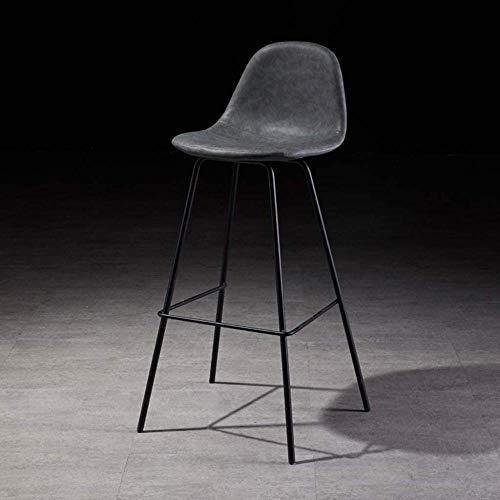 ElegantHome Décor Modern Barstools Upholstered PU Leather Counter Bar Stool 65CM Height Modern Design-Dark Blue_45x43x65cm